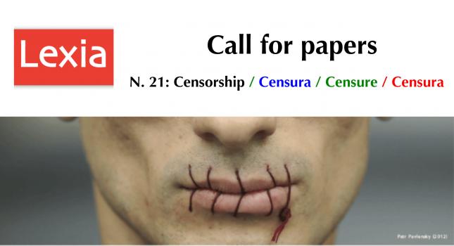 CFP: Lexia n. 21 – Censorship