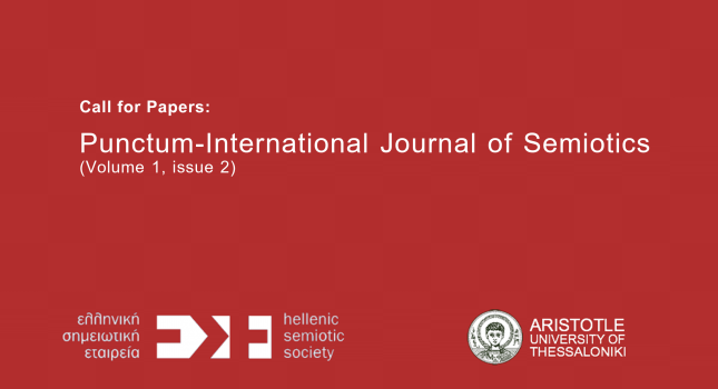 CFP: Punctum-International Journal of Semiotics (Volume 1, issue 2)