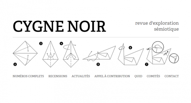 CFP: 6th issue of the Cygne noir semiotics journal