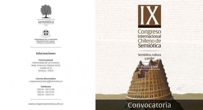 CFP: IX Congreso Internacional Chileno de Semiótica