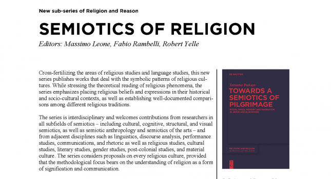 New Series: Semiotics of Religion