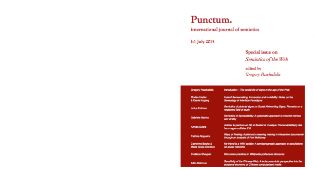 Publication of the 1st issue of PUNCTUM