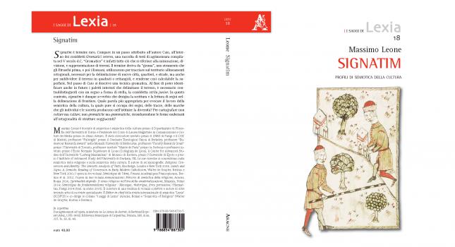 New Book: Signatim: Profili di semiotica della cultura, Massimo Leone