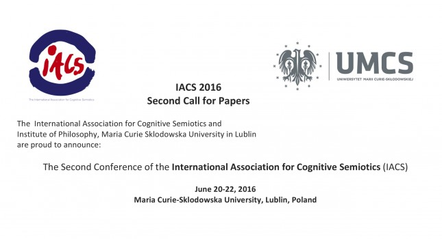 2nd Call for the Second Conference of the Interantional Association for Cognitive Semiotics
