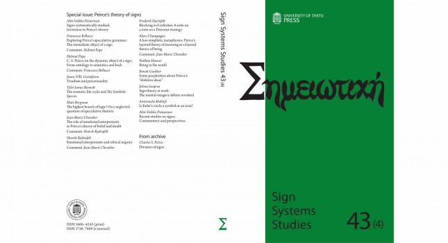 Journal: Sign Systems Studies 43 (4)