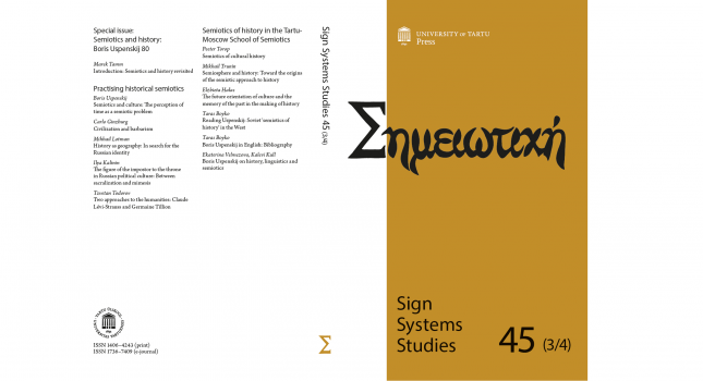 Journal: Sign Systems Studies 45 (3/4) 2017