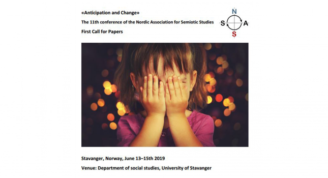 Third CFP: «Anticipation and Change» The 11th conference of the Nordic Association for Semiotic Studies