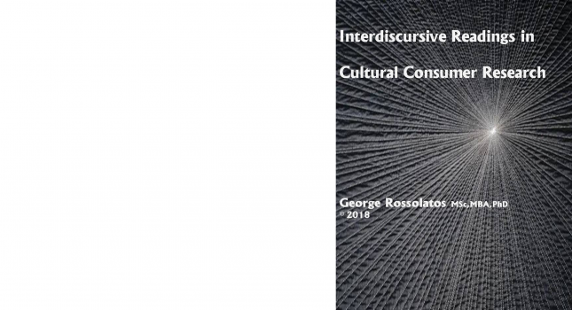 New Book:  Interdiscursive readings in cultural consumer research, George Rossolatos
